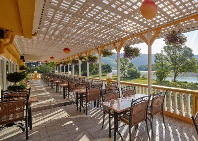 Hotel - Restaurant Panorama, Kröv | Terrasse